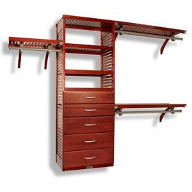 John Louis Home 10 Ft X 96 Ft Red Mahogany Wood Closet Kit