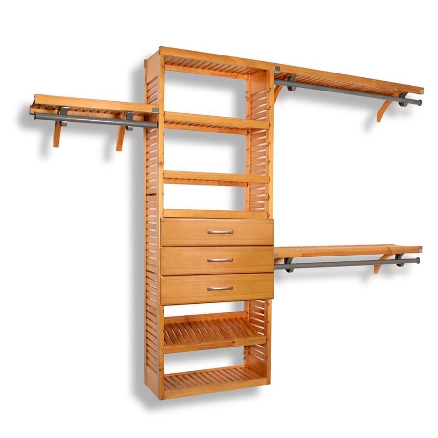 John Louis Home 10-ft x 8-ft Honey Maple Wood Closet Kit