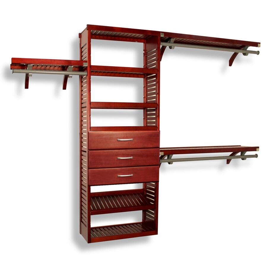 John Louis Home 10-ft x 8-ft Red Mahogany Wood Closet Kit