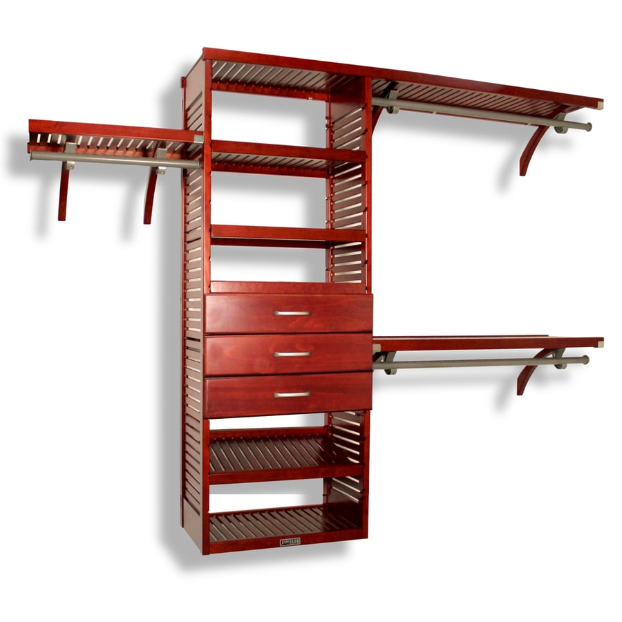 John Louis Home 10 Ft X 8 Red Mahogany Wood Closet Kit