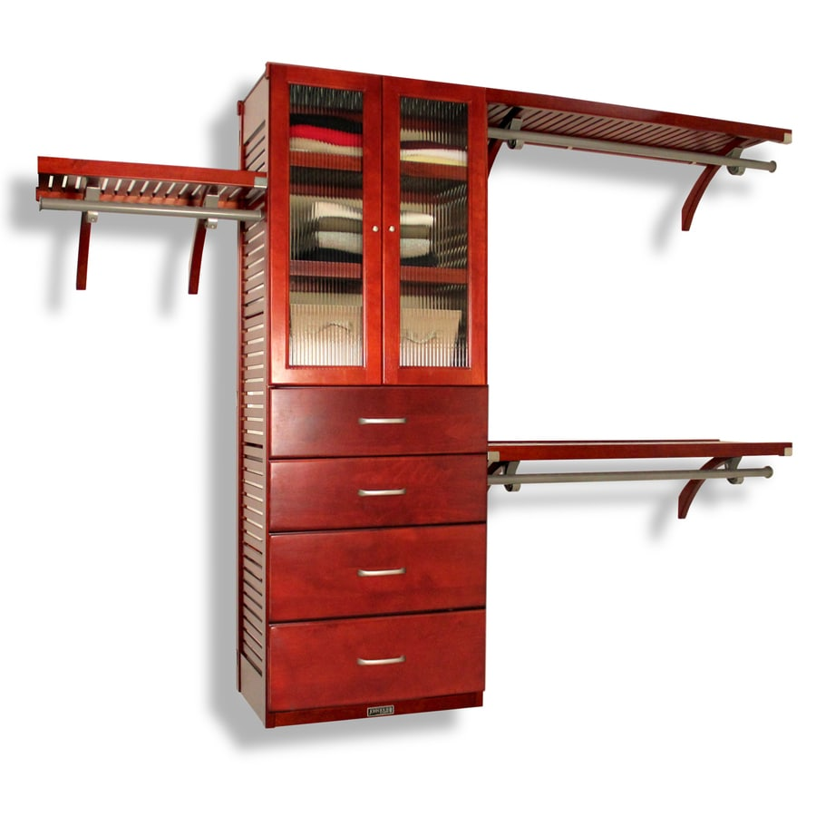 Shop john louis home ft red mahogany wood closet