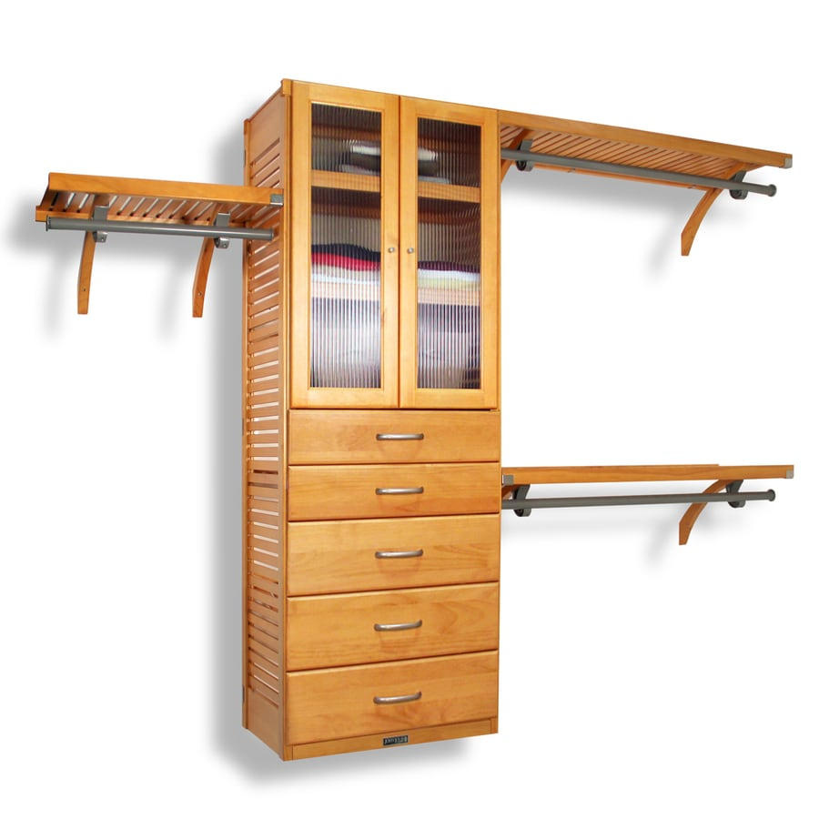 closet systems lowes. John Louis Home 10-ft X 8-ft Honey Maple Wood Closet Kit Systems Lowes