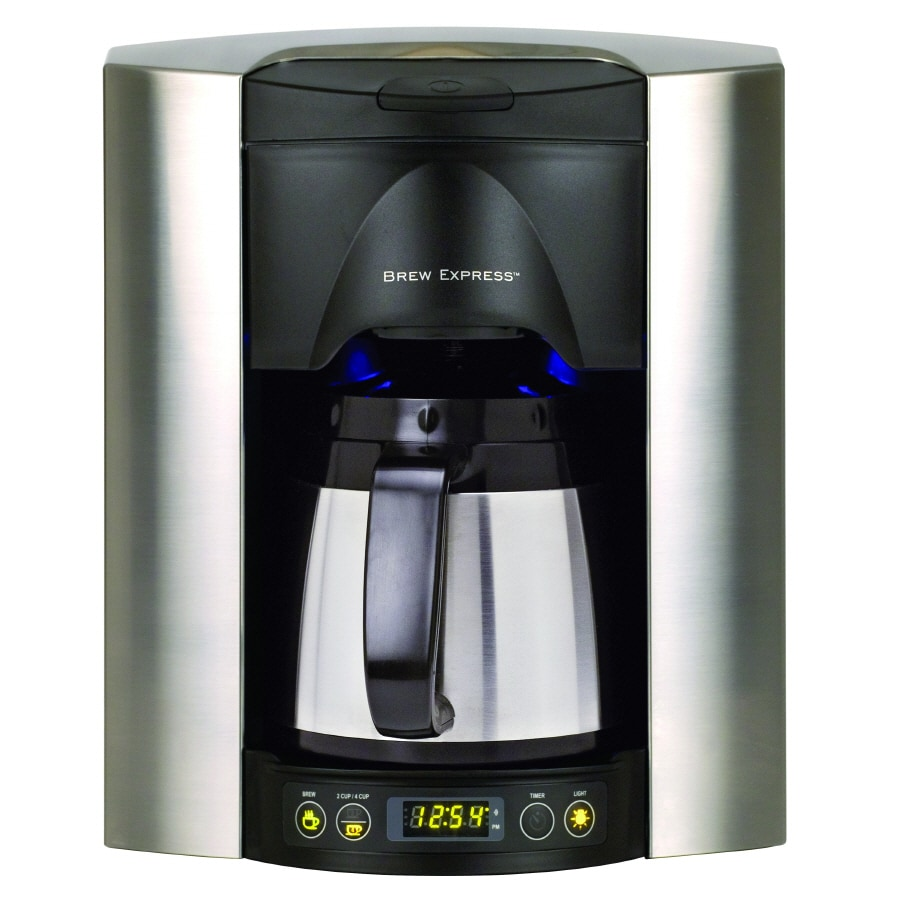 Brew Express Satin Chrome 4-Cup Programmable Coffee Maker