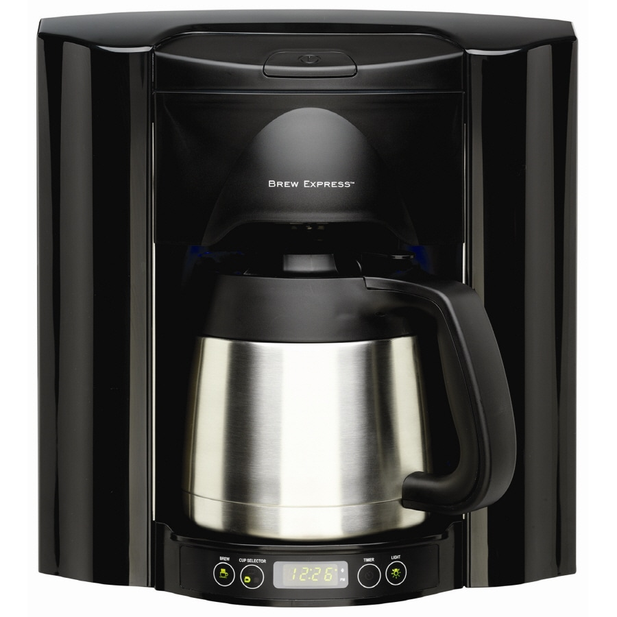 BREW EXPRESS 10-Cup Black Programmable Commercial Coffee Maker
