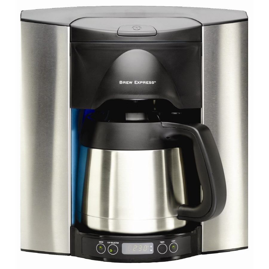 Shop Brew Express 10-Cup Stainless Steel Programmable Commercial Coffee Maker at Lowes.com