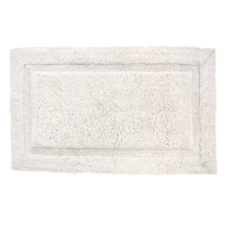 Luxury 34-in x 21-in White Cotton Bath Rug