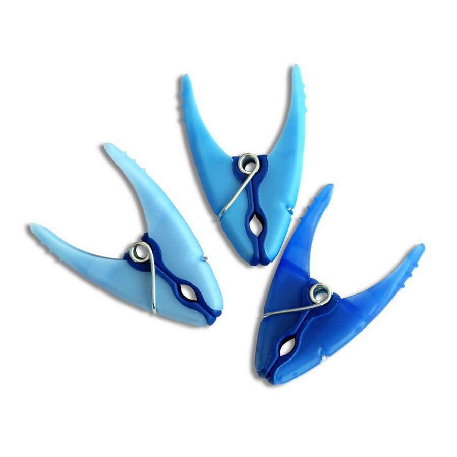 Minky 18-Pack Blue Plastic Clothespins