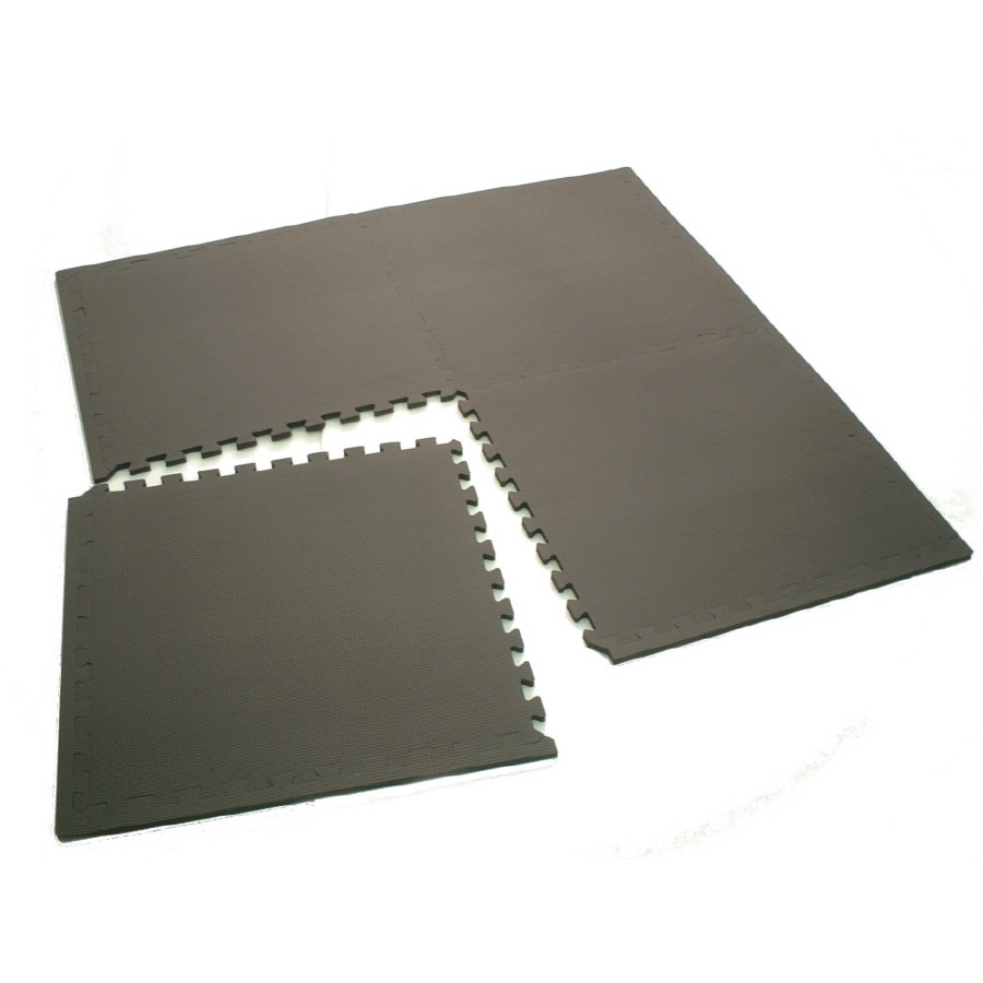 Gray Anti-Fatigue Mat (Common: 4-ft x 4-ft; Actual: 49.21-in x 49.21-in)
