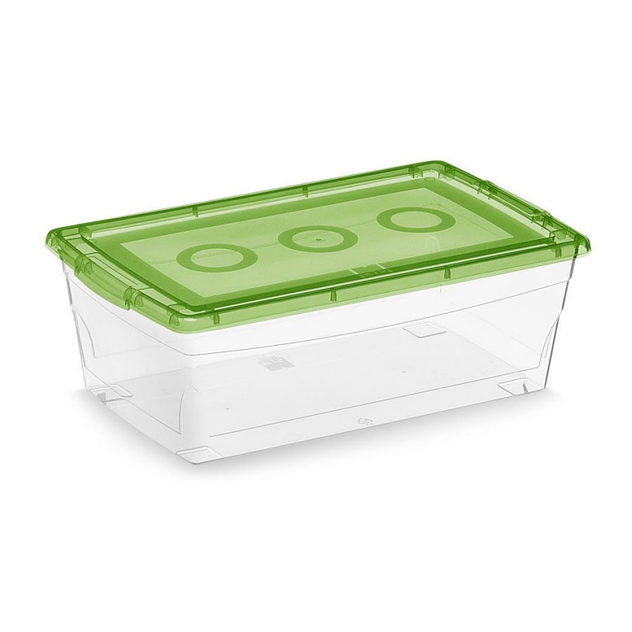 KIS 2-Pack Omni 7-Quart Green Shoe Box with Standard Snap Lid