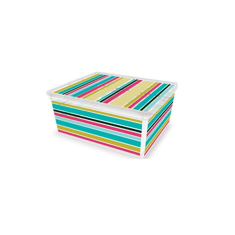 KIS Medium Stripe Pattern Decorative C Box