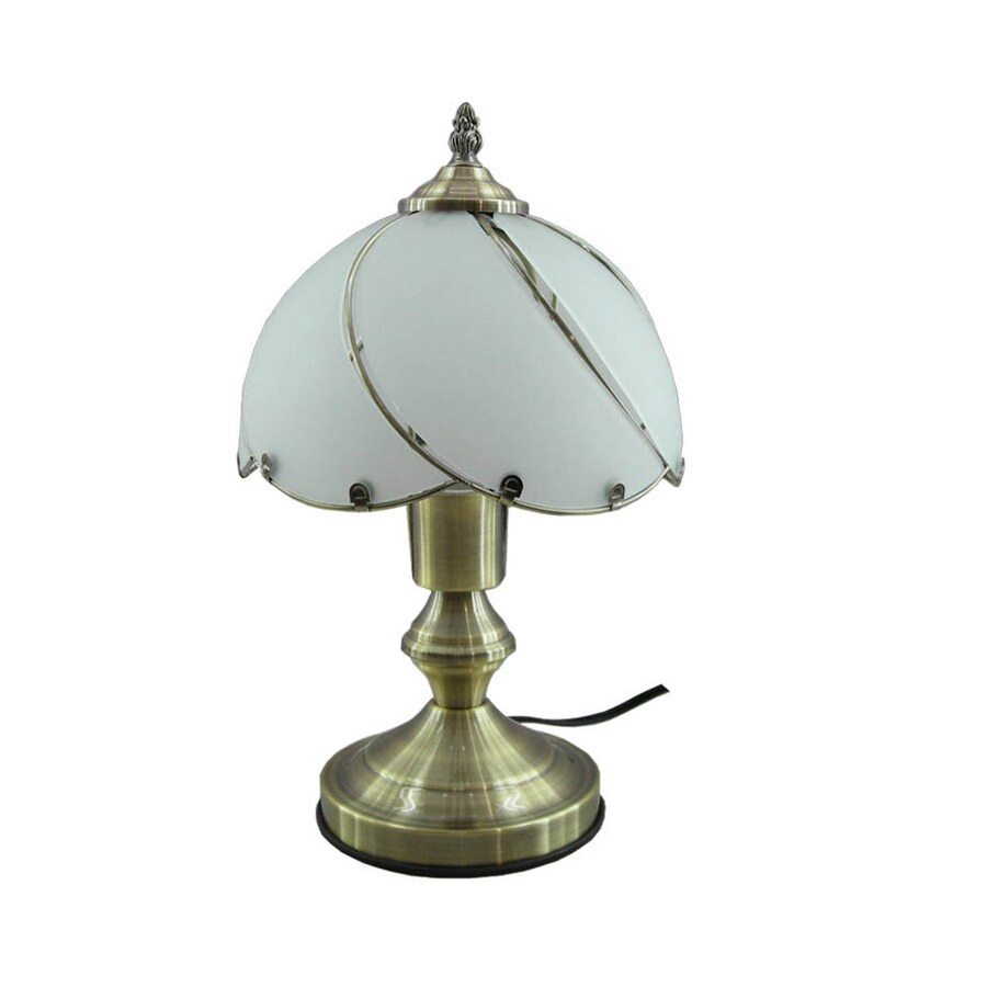Shop portfolio 14h compact fluorescent antique brass touch table portfolio 14h compact fluorescent antique brass touch table lamp energy star174 aloadofball Images