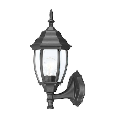 Wexford 15 5 In H Matte Black Medium Base E 26 Outdoor Wall Light