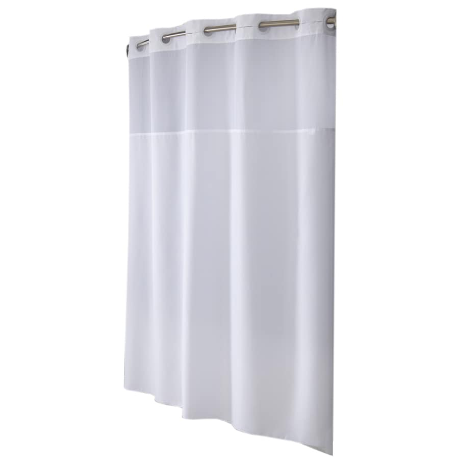 hookless polyester solid shower curtain