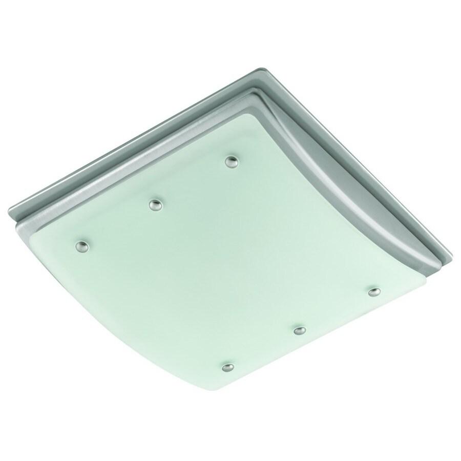 Shop Harbor Breeze 2-Sone 100-CFM Brushed Nickel Bathroom Fan with ...