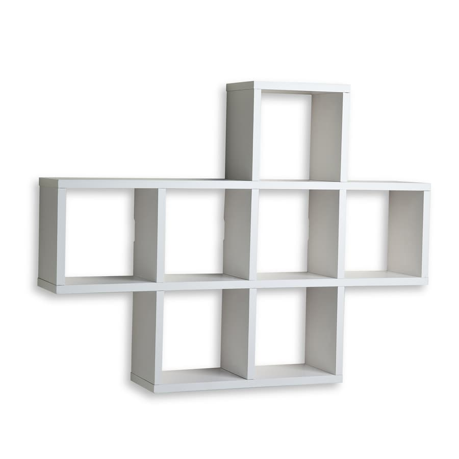 Danya B 31-in W x 23-in H x 5.5-in D Wood Wall Mounted Shelving