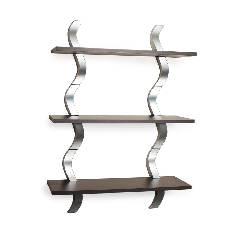 Danya B 27.5-in W x 40-in H x 9.5-in D Wood Wall Mounted Shelving