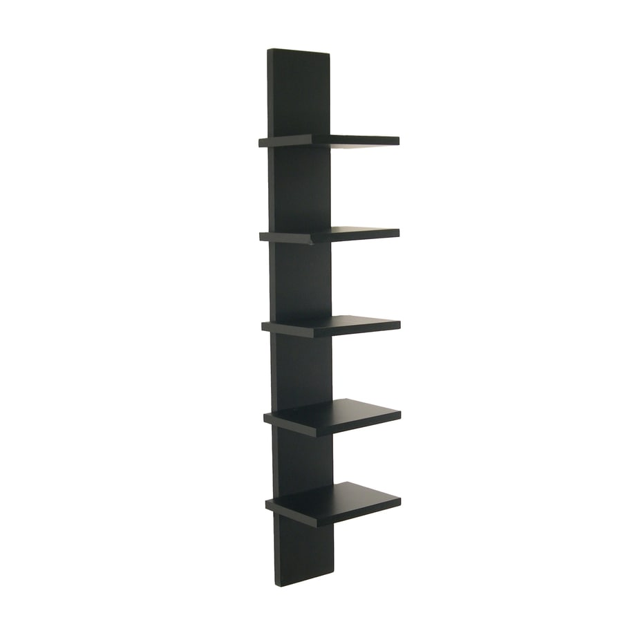 Danya B 6-in W x 30-in H x 5.5-in D Wood Wall Mounted Shelving