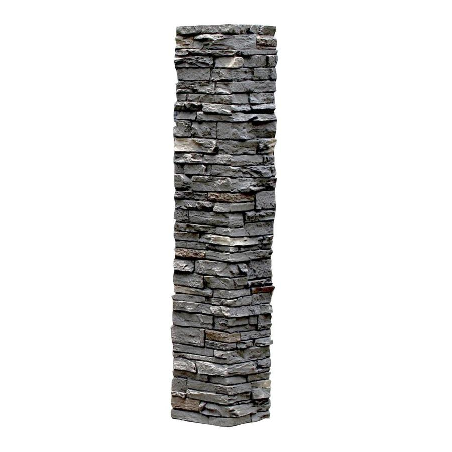 NextStone (Fits Common Post Measurement: 5-1/2-in X 5-1/2-in; Actual: 8-in x 8-in x 41-in) Slatestone Rundle ridge Composite Deck Post Sleeve