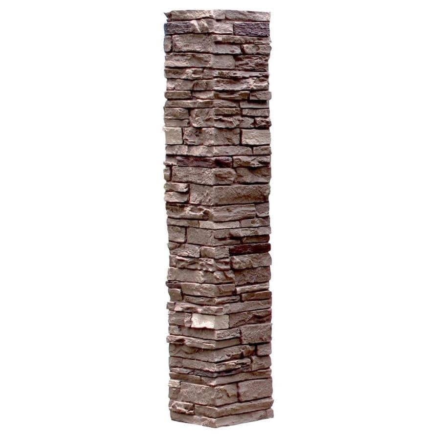 NextStone (Fits Common Post Measurement: 5-1/2-in X 5-1/2-in; Actual: 8-in x 8-in x 41-in) Slatestone Brunswick brown Composite Deck Post Sleeve