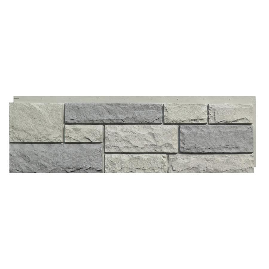Shop Nextstone Random Rock 19 Sq Ft Tri Gray Faux Stone