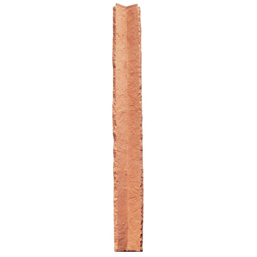 NextStone Sandstone 2-Pack 3.5-in x 48-in Red Molded Corner Stone Veneer Trim