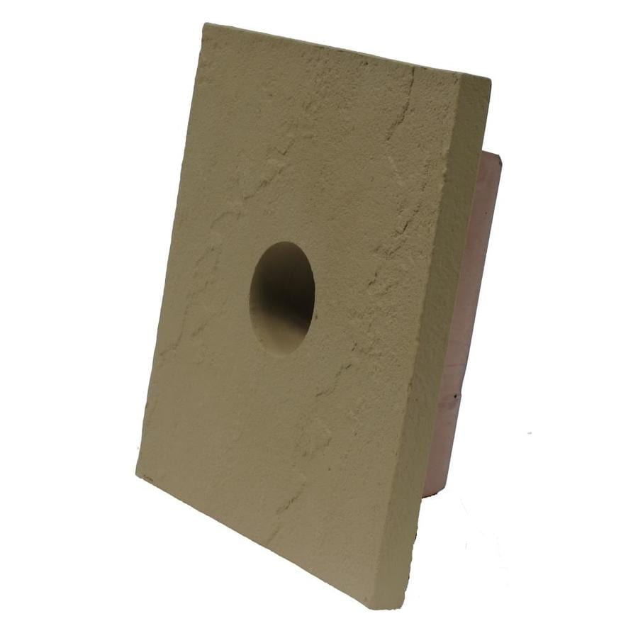 NextStone Sandstone 8-in x 9-in Buff Vinyl Universal Mounting Block