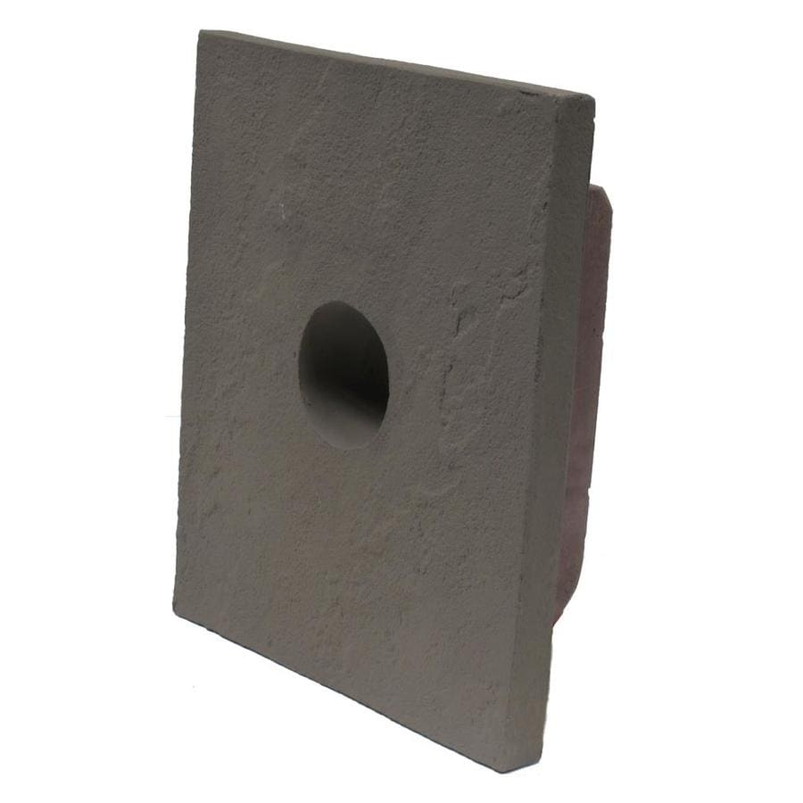 NextStone Sandstone 8-in x 9-in Gray Vinyl Universal Mounting Block