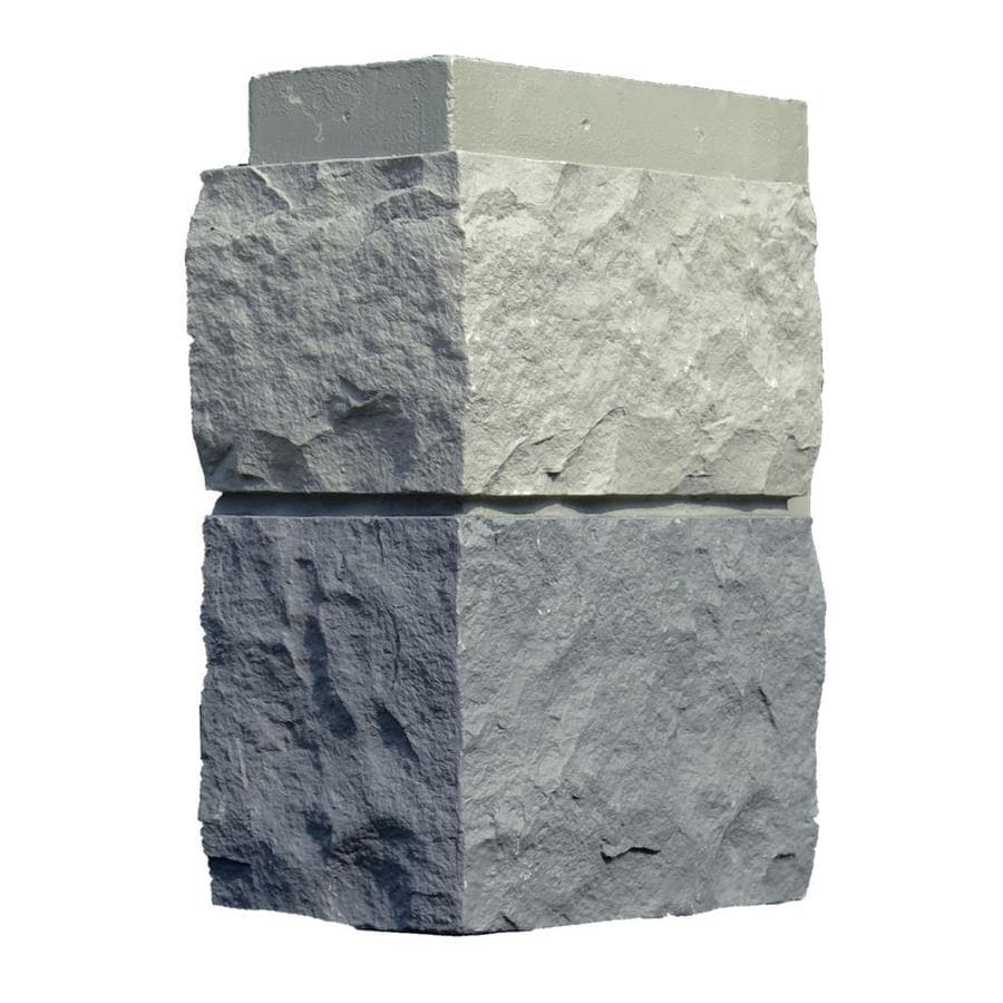 NextStone Random rock 4-Pack 5.16-lin ft Tri gray Outside Corner Stone Veneer