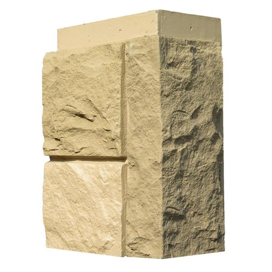 NextStone Random Rock 4-Pack 7-in x 15.5-in Desert Buff Molded Corner Stone Veneer Trim