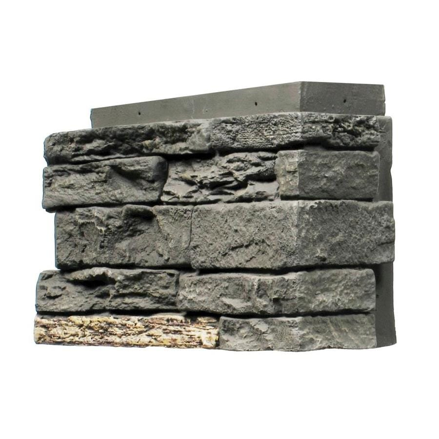 NextStone Sandstone 4-Pack 2.75-lin ft Midnight ash Outside Corner Stone Veneer