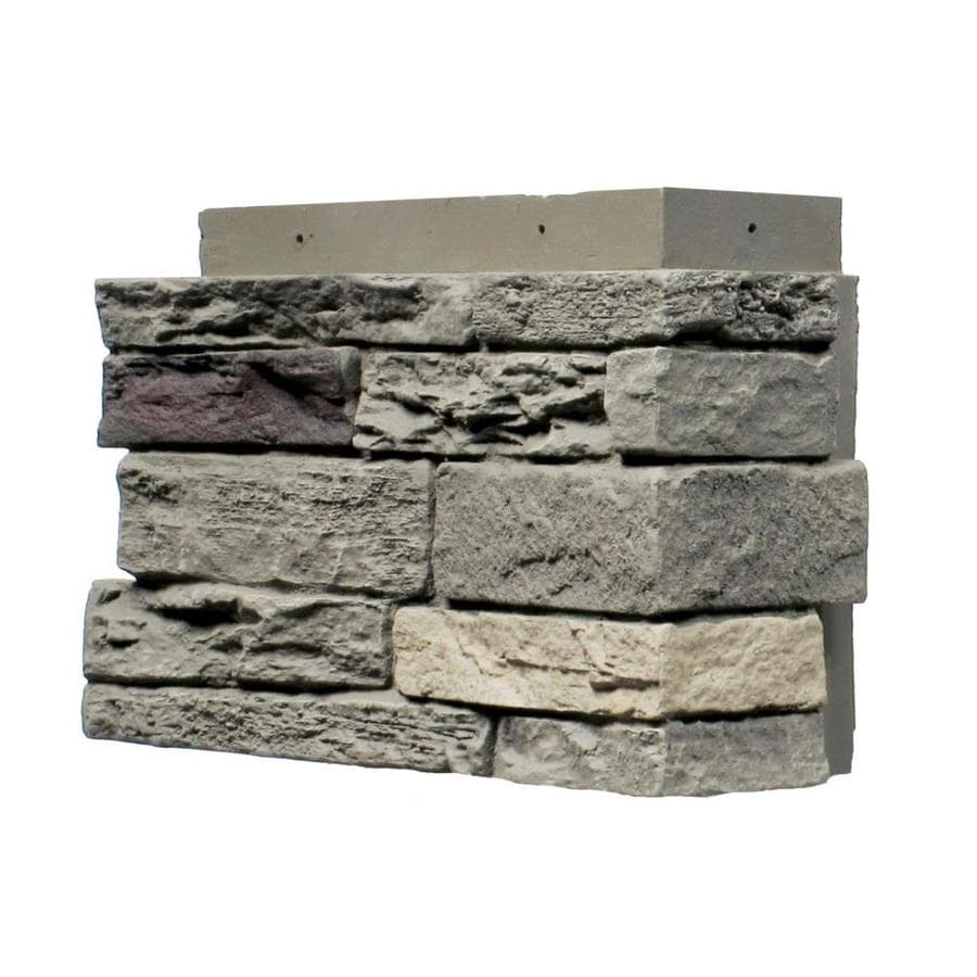 NextStone Slatestone 4-Pack 2.75-lin ft Pewter Outside Corner Stone Veneer