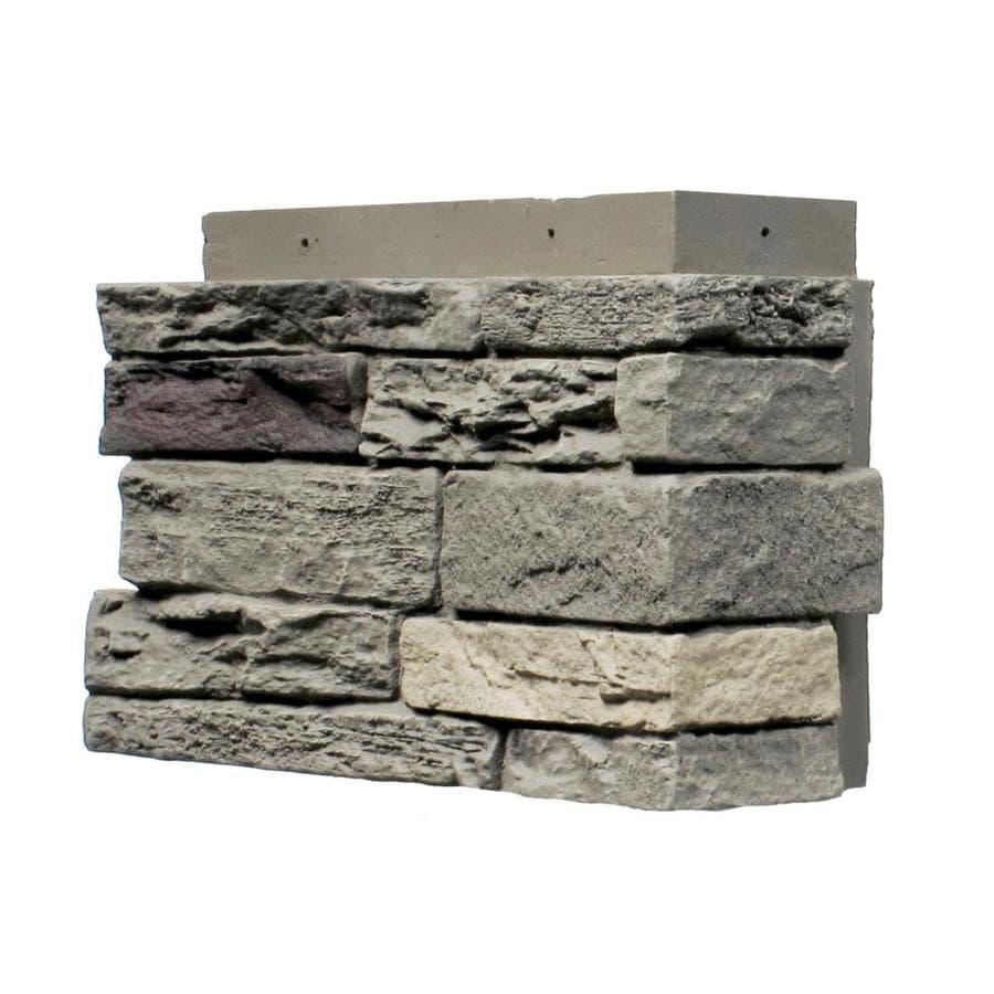 NextStone Slatestone 4-Pack 4.5-in x 12.75-in Pewter Molded Corner Stone Veneer Trim