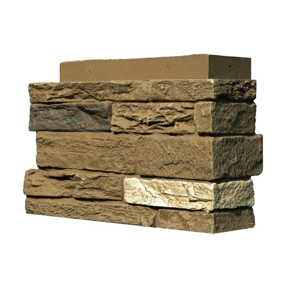 NextStone Slatestone 4-Pack 4.5-in x 12.75-in Brunswick Brown Molded Corner Stone Veneer Trim