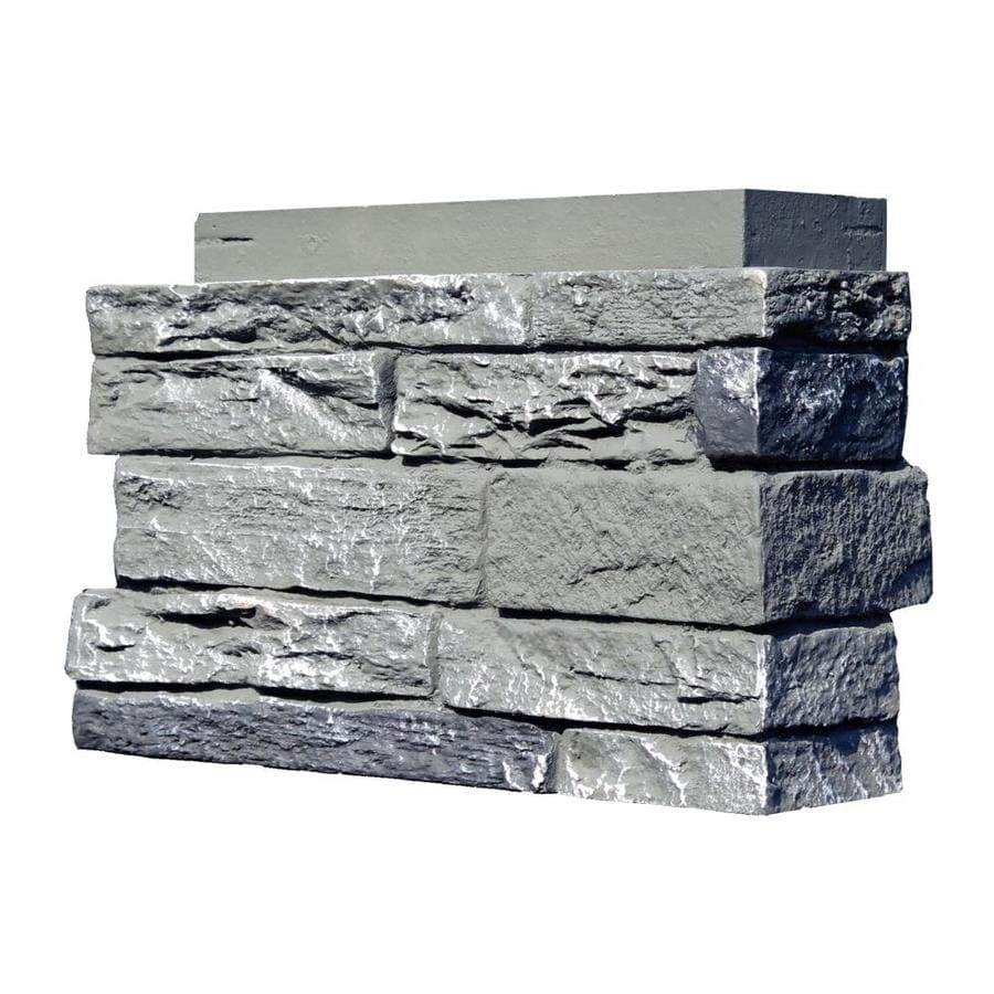 NextStone Slatestone 4-Pack 2.75-lin ft Rocky mountain graphite Outside Corner Stone Veneer