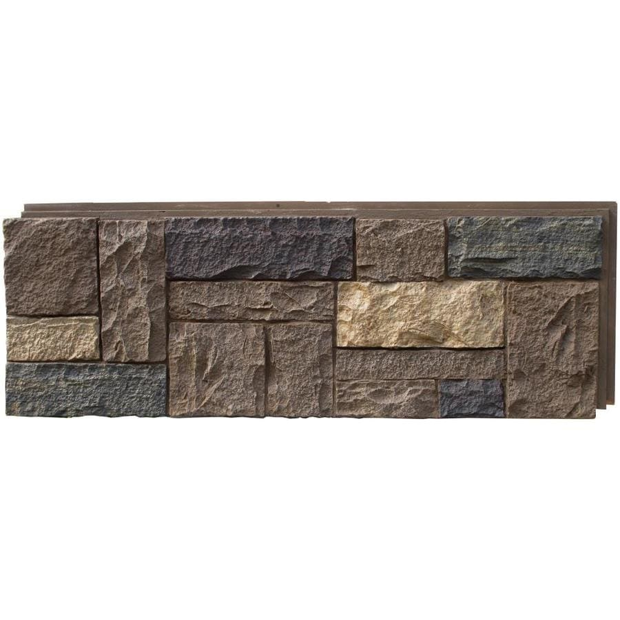 nextstone castle rock 1612sq ft tuscan brown faux stone veneer - Faux Stone Veneer