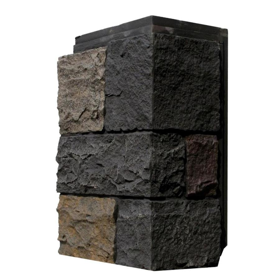 NextStone Castle Rock 4-Pack 15.25-in x 7-in Ashford Charcoal Molded Corner Stone Veneer Trim