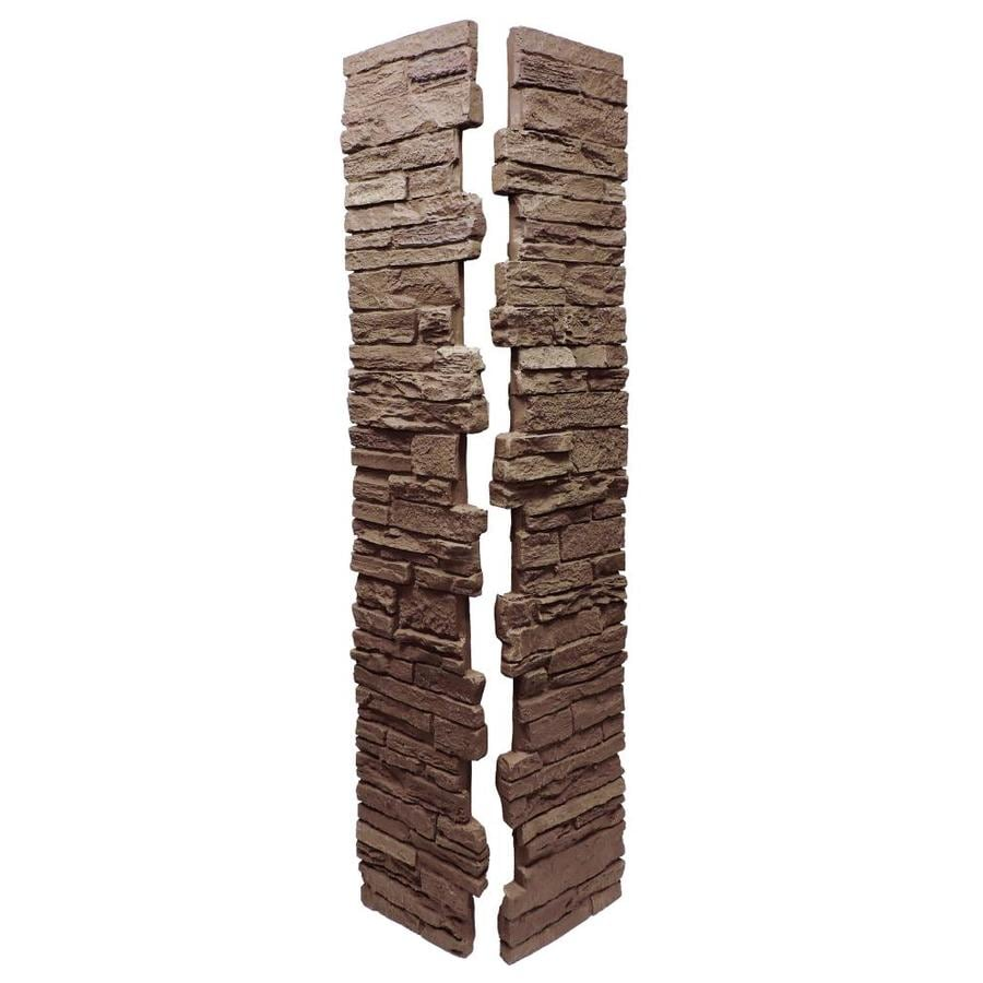NextStone (Fits Common Post Measurement: 5-1/2-in X 5-1/2-in; Actual: 8-in x 8-in x 41-in) Slatestone Brunswick Brown Composite Deck Post Sleeve