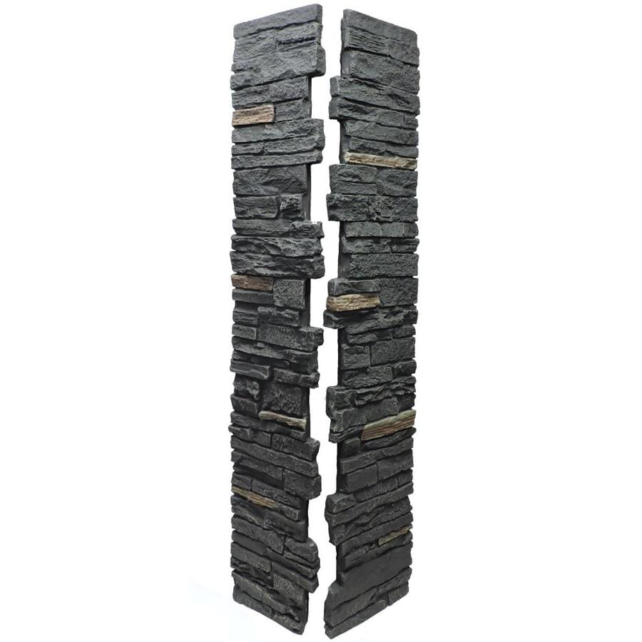 NextStone (Fits Common Post Measurement: 5-1/2-in X 5-1/2-in; Actual: 8-in x 8-in x 41-in) Slatestone Midnight ash Composite Deck Post Sleeve