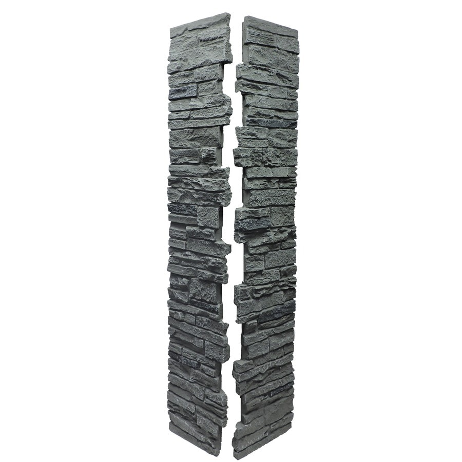 NextStone (Fits Common Post Measurement: 5-1/2-in X 5-1/2-in; Actual: 8-in x 8-in x 41-in) Slatestone Rocky mountain graphite Composite Deck Post Sleeve