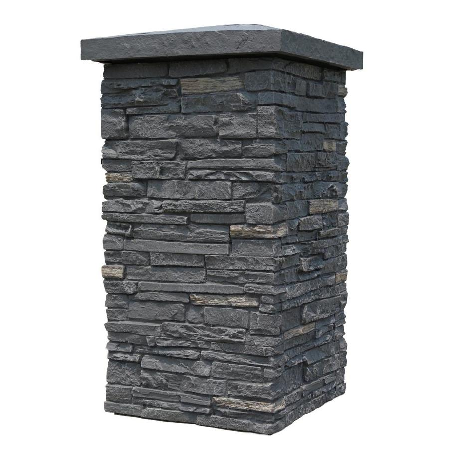 NextStone Slatestone Column Wrap 2.5-sq ft Midnight ash Faux Stone Veneer