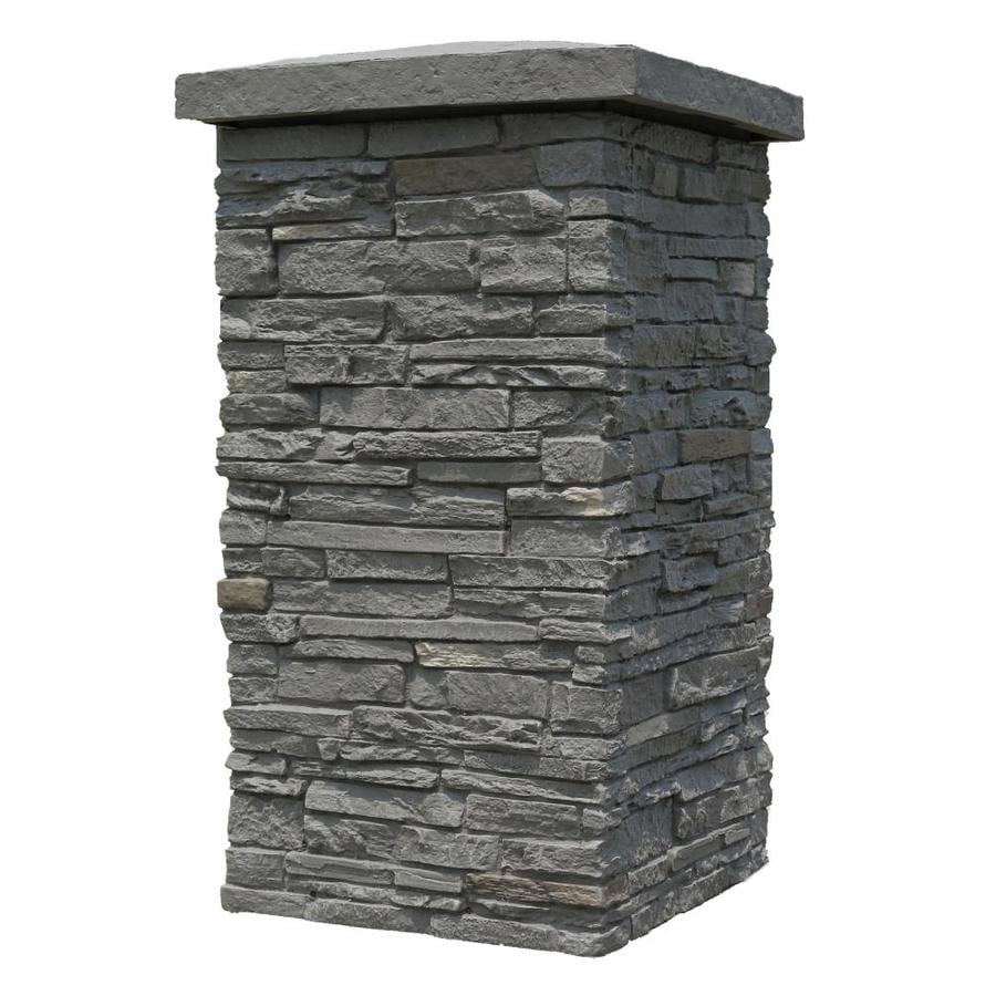 NextStone Slatestone Column Wrap 2.5-sq ft Rundle ridge Faux Stone Veneer