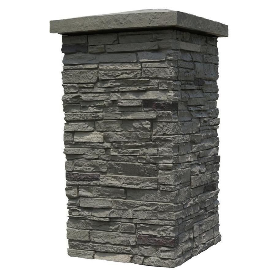 NextStone Slatestone Column Wrap 2.5-sq ft Pewter Faux Stone Veneer