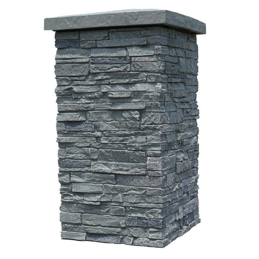 NextStone Slatestone Column Wrap 2.5-sq ft Rocky mountain graphite Faux Stone Veneer