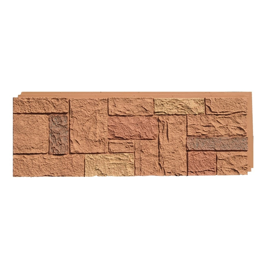NextStone Castle Rock 16.12-sq ft Canterbury Red Faux Stone Veneer