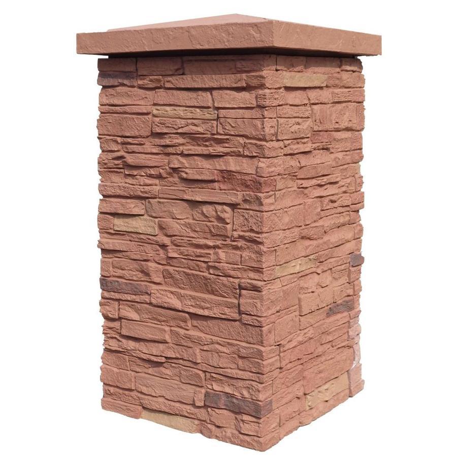 NextStone Slatestone Column Wrap 2.5-sq ft Arizona red Faux Stone Veneer
