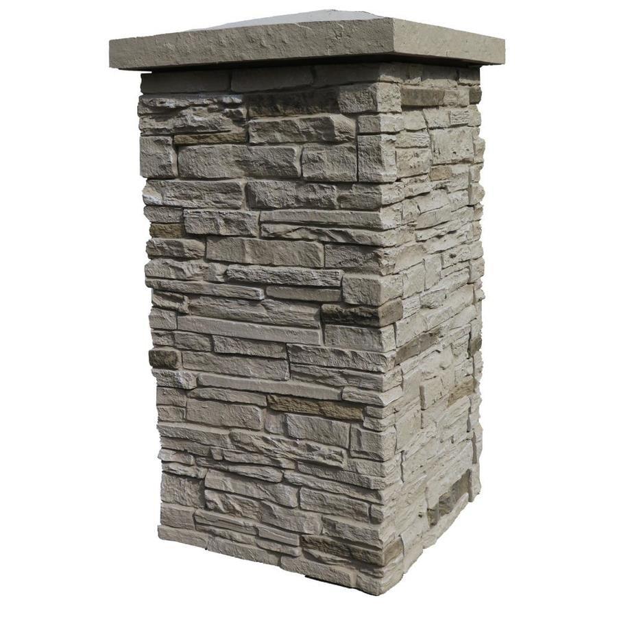 Nextstone Slatestone Column Wrap Sahara Faux Stone Veneer