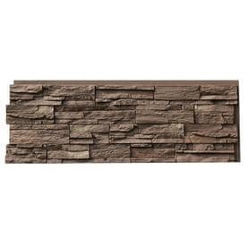 Nextstone Country Ledgestone 16 96 Square Ft Himalayan Brown Faux Stone Veneer