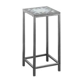 a5b35d62e1c7 Monarch Specialties 28-in Hammered Silver/Grey/Blue Indoor Square Ceramic Plant  Stand