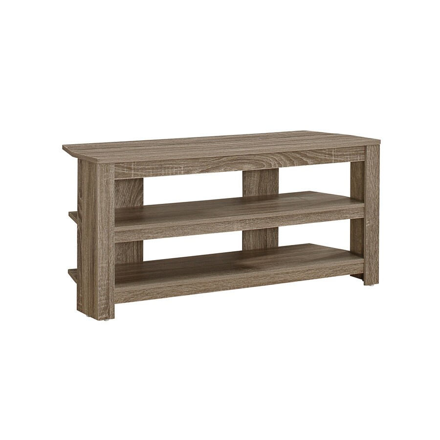 Monarch Specialties Dark Taupe Reclaimed Corner Tv Stand At Lowescom