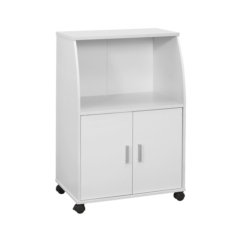 Monarch Specialties White Modern Microwave Cart At Lowes.com